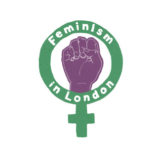 Feminism in London honours the suffragettes with the colours white, purple and green